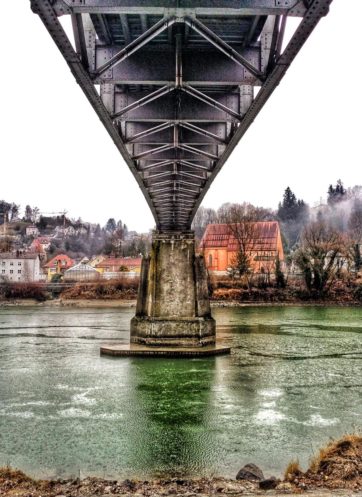 Eisenbahnbrücke über die Inn, Passau